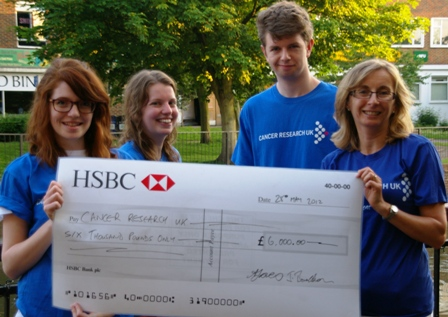 Some of the CRUW team with the £6,000 cheque